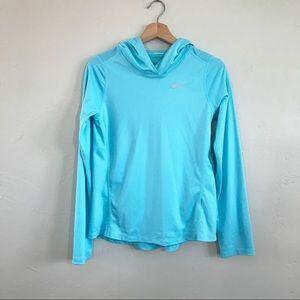 Nike Dri-Fit Blue Long Sleeve Hoodie Pullover